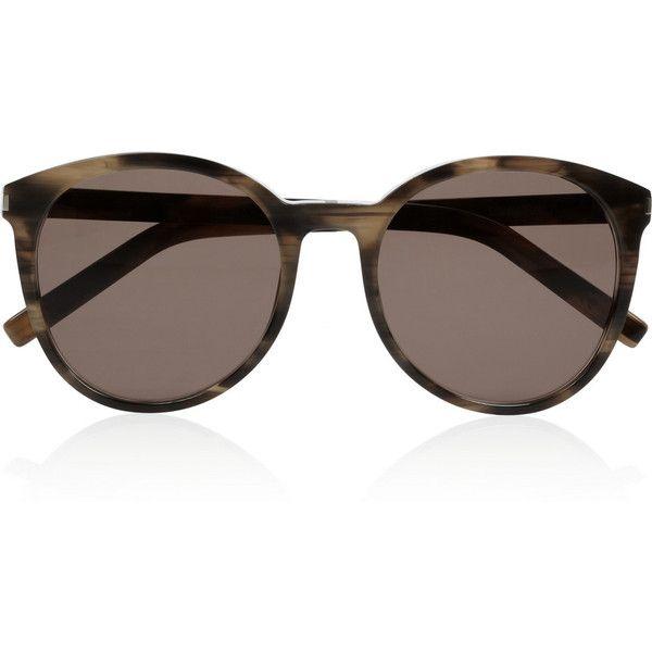 0300671f9 Saint Laurent Classic 6 round-frame tortoiseshell acetate sunglasses ($310)  ❤ liked on