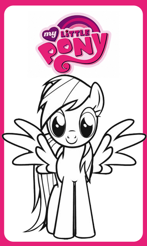 Coloring Page Little Pony Hd Available On Android Apps And Printable Ready To Prints Coloring Pages Coloring Pages For Kids Coloring Apps