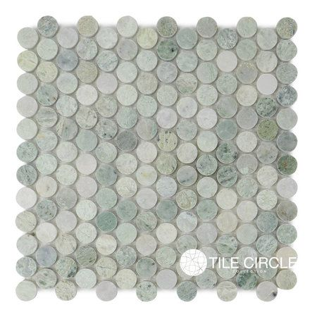 Ming Green Marble Polished 1 Quot Quot Penny Round Circles Penny