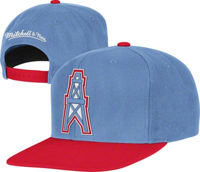 Houston Oilers Blue Mitchell   Ness Throwback Snapback Hat ... 7258fc0bed73