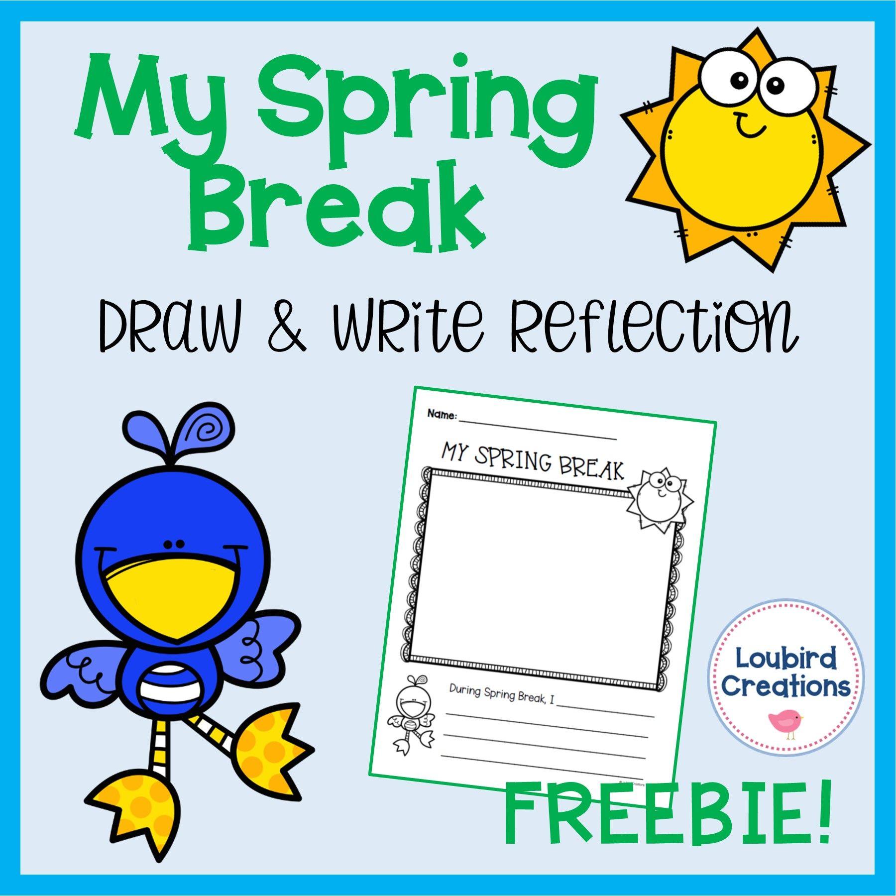 Spring Break Memory Freebie In