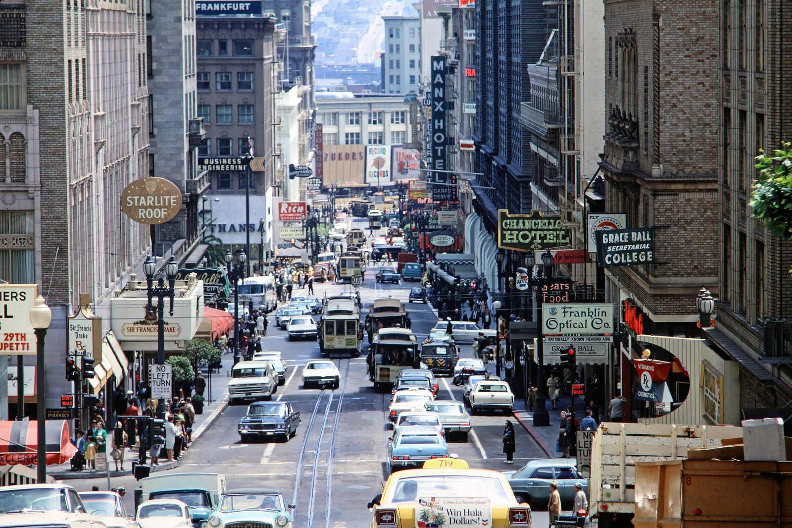 Muni San Francisco California 1968 San San Francisco Railroad Photography