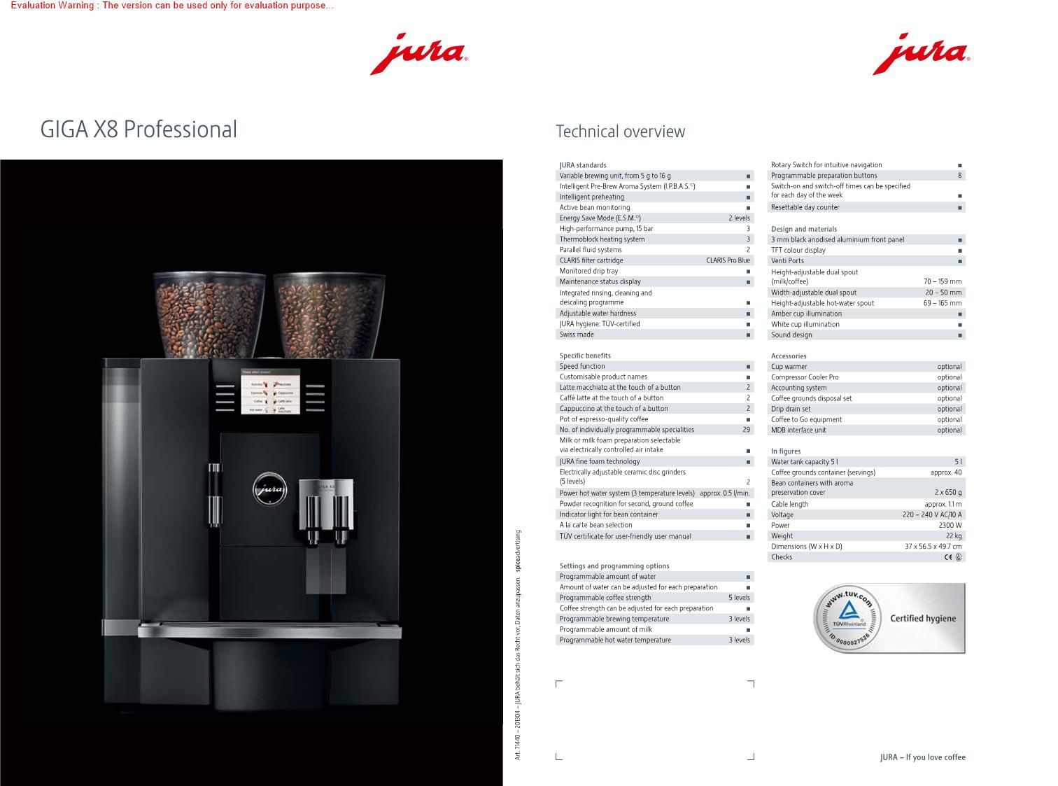 Jura Ena Micro 1 espressocoffee Jura coffee machine