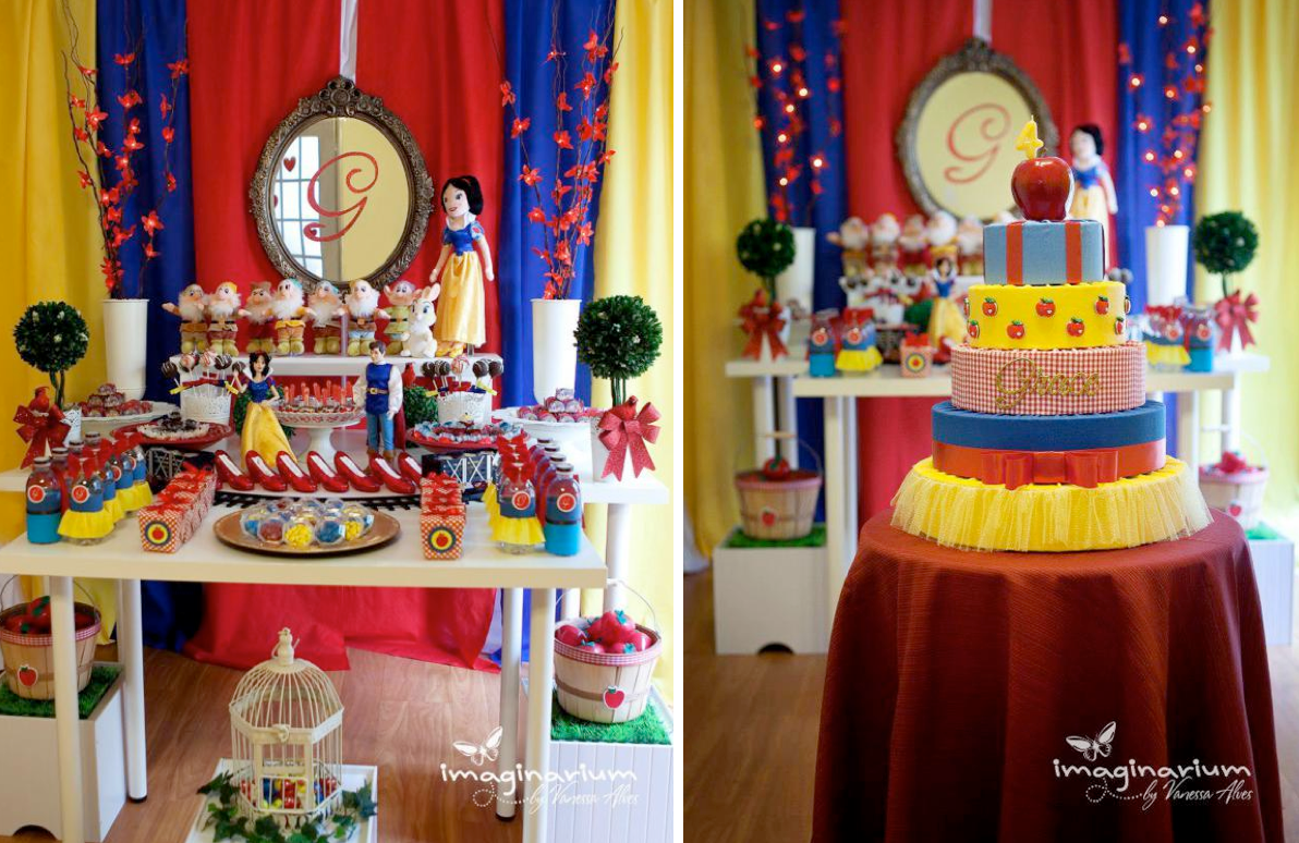 Disney Princess Snow White Girl Cake Party Planning Ideas