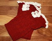 Lace Red Brick Boot Cuffs Knit Boot Toppers Boot by uptowngirlco, $15.95