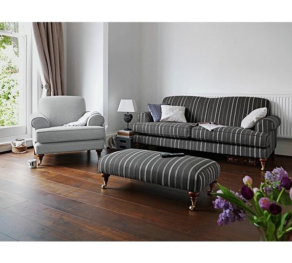 Buy Heart Of House Sherbourne Large Striped Sofa