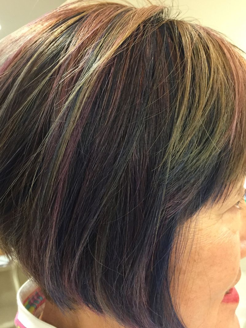 Trying the new hair coloring trend in midlife bob hairstyle and bobs