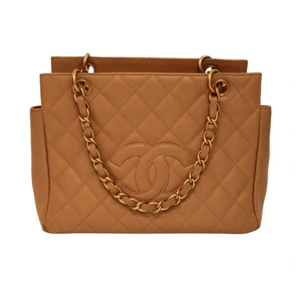 bcfa0b6000f7 Chanel Caramel Quilted Leather Handbag with Monogram | Caramel Color ...