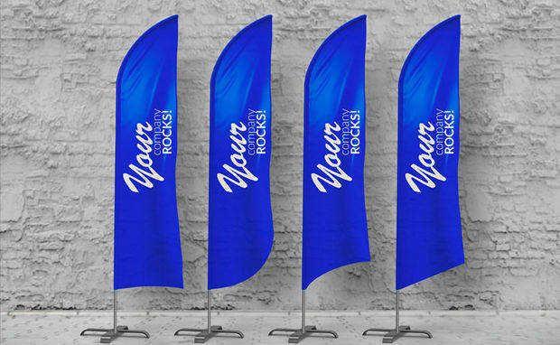 Feather Flag Mockup Mockup Design Mockup Flag