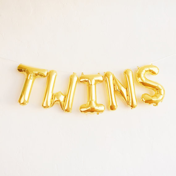 Twins Balloons Baby Shower Pinterest Twin Baby Announcements