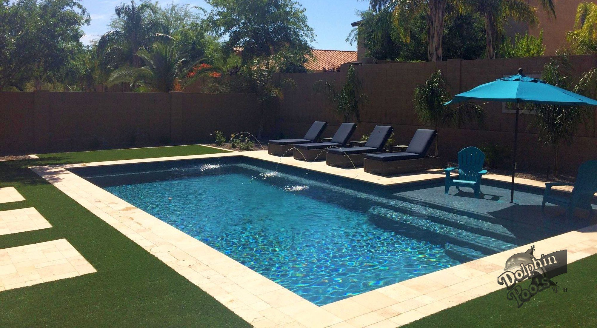 Pool by dolphin pools and spas modernpoolandspa