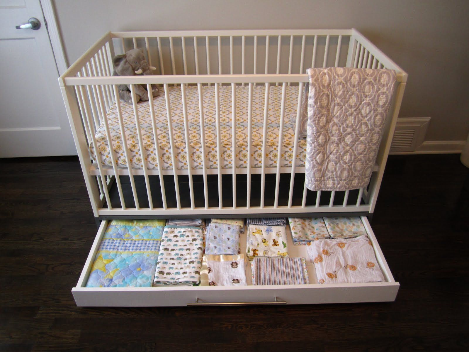 Ikea Hackers Simple Crib With Storage Baby Nursery Storage Cribs Girl Nursery Storage