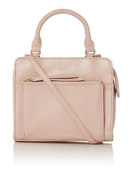 Clerkenwell light pink mini crossbody bag
