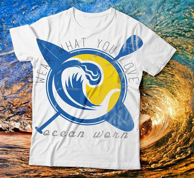 Create a ocean vibe tshirt design for OceanWorn! by Snow.Owl.Studios