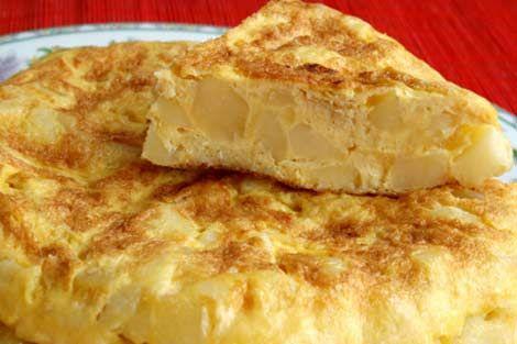 Spanish omelette in Spain-yum!