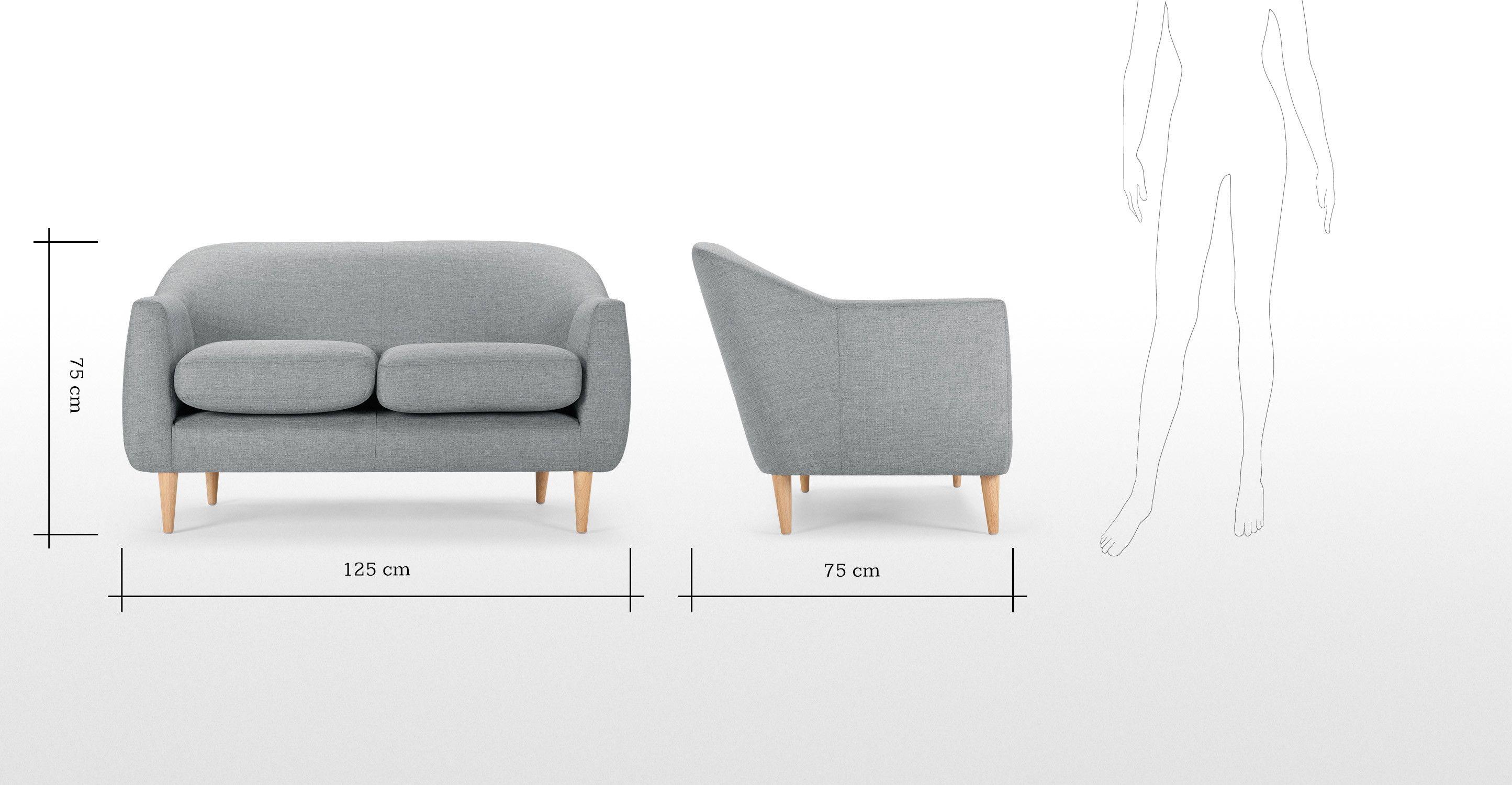Tubby 2 Seater Sofa Koala Grey Made Com Sofa Design 2 Seater Sofa Sofa Online