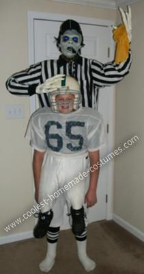 coolest diy zombie football referee halloween costume - Halloween Costume Football