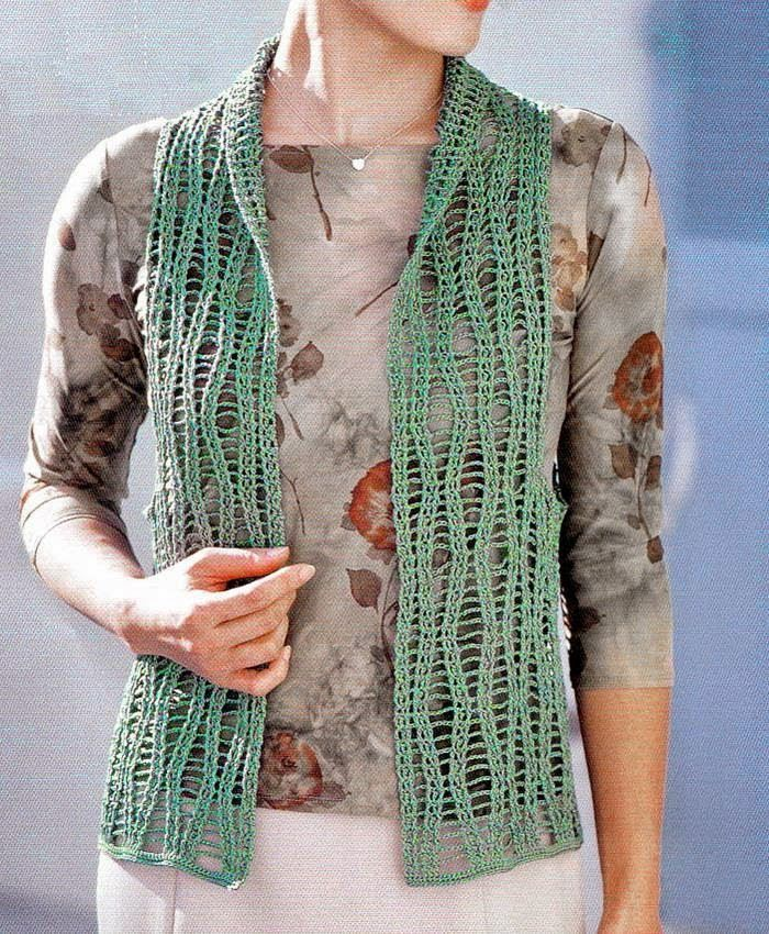 Free Crochet Pattern Lace Vest : Crochet Sweater: Crochet Vest Pattern Free - Lace Vest For ...