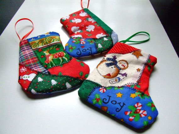 Patchwork Christmas stocking giftcard holder by IntricateHandiwork, $15.00 Handmade in America, Perfect for a one-of-a-kind gift!