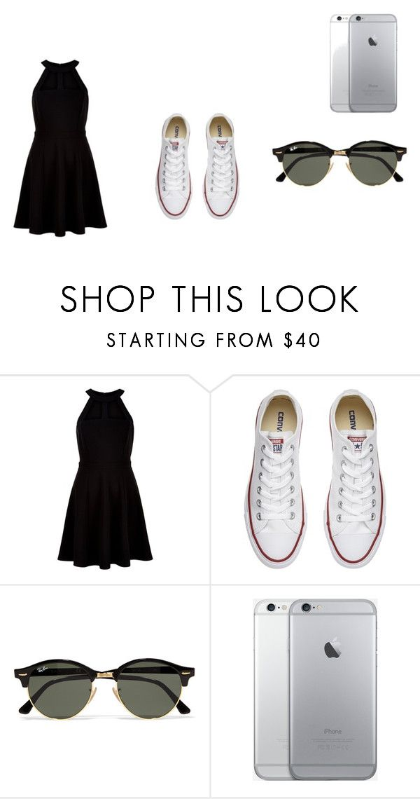 """""""t"""" by taytaybug022442 on Polyvore featuring New Look, Converse and Ray-Ban"""