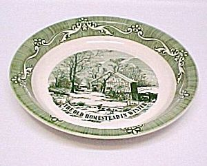 Old Homestead in Winter Deep Dish 10\  Pie Plate. Currier \u0026 Ives Farmstead winter scene Green on White Royal China. Made in the 1950s.  sc 1 st  Pinterest & Old Homestead in Winter Deep Dish 10\