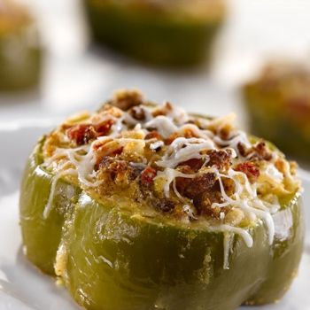 Cornbread Stuffed Bell Pepper Rings