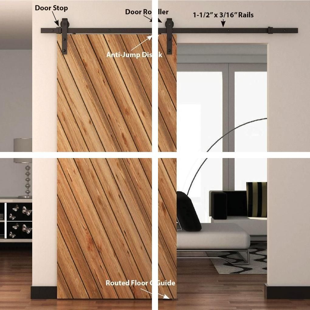 Double Barn Doors Interior Barn Doors With Hardware 2 Door Barn Door In 2020 Doors Interior Interior Barn Doors Wood Doors Interior