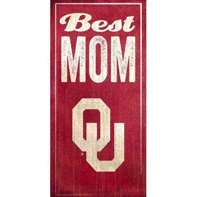 Fan Creations NCAA Best Mom Textual Art Plaque NCAA Team: University of Oklahoma