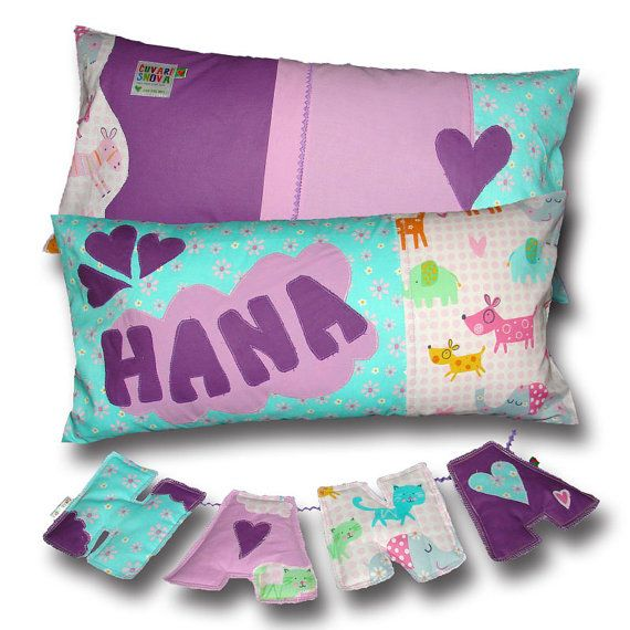 Kids+Pillow+Personalized+Custom+Name+&+Design+by+DreamsGuardian,+$55.00