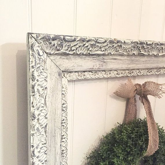 Vintage Wood Frame Baroque Wall Frame French Provincial Gallery ...