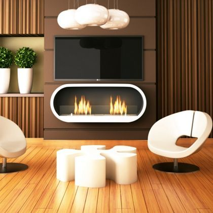 White Marlow Bio Ethanol Fireplace By Imagin, A Very Modern Looking Design  Thats Looks Cool