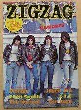 RAMONES ZIG ZAG NO.88 MAGAZINE OCT 1978 RAMONES COVER WITH MORE INSIDE(NO SINGLE