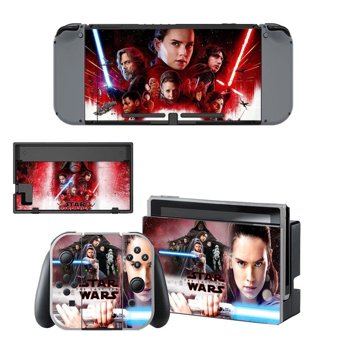 Star Wars The Last Jedi vinyl decal for Nintendo switch console sticker skin