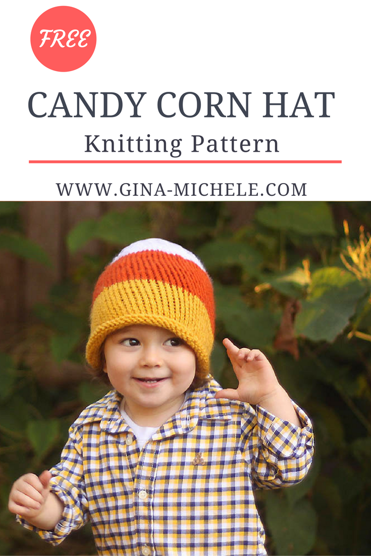 FREE Knitting Pattern for this Candy Corn Hat | Blogger Knitting ...