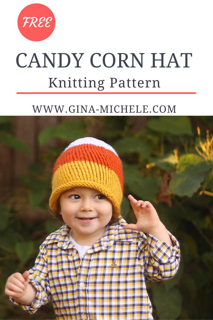 Toddler Candy Corn Hat Knitting Pattern Gina Michele Baby Hats Knitting Holiday Knitting Patterns Hat Knitting Patterns