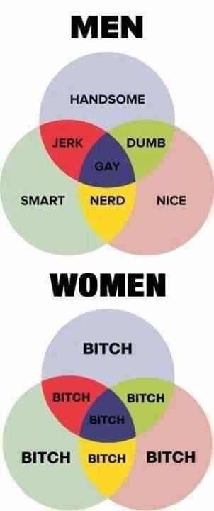 sad but can be seriously true lol all things funny men vs women VIN Diagram sad but can be seriously true lol men and women, funny quotes, venn diagrams