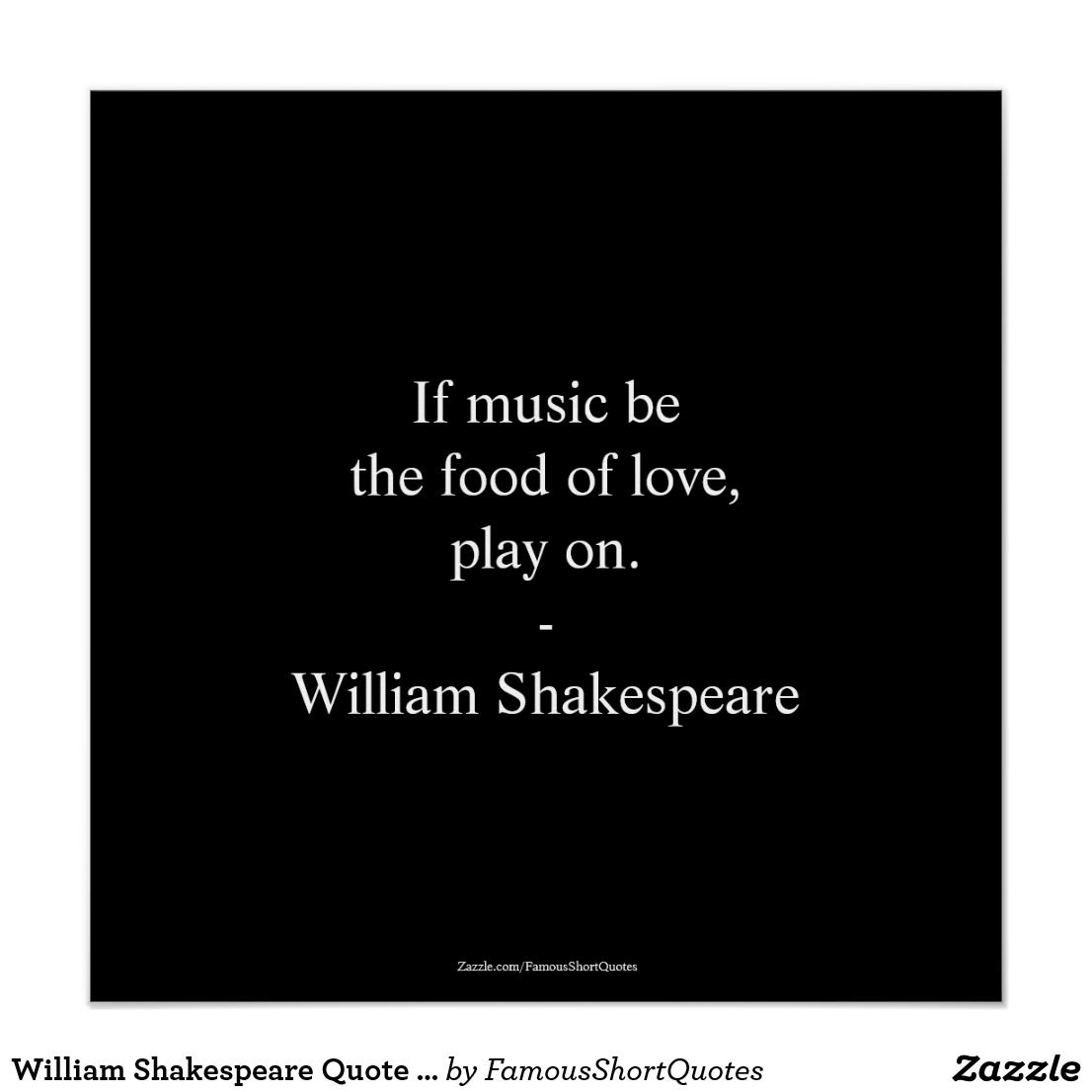 Famous Short Quotes William Shakespeare Quote  Love Poster  English Poets Famous