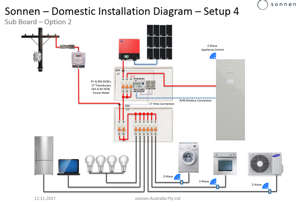 Installation Diagrams Sonnen Support Australia Diagram Electrical Wiring Diagram Electrical Symbols
