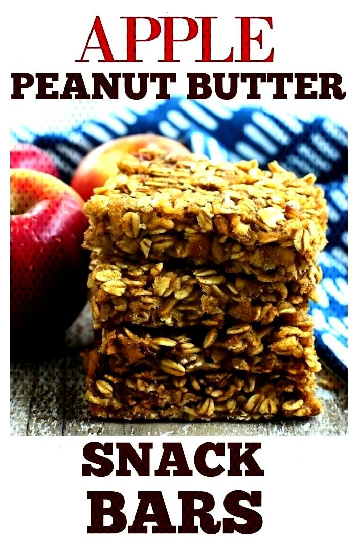 Peanut Butter Snack Bars are perfect for school lunches or after school snack! No refined sugar, no