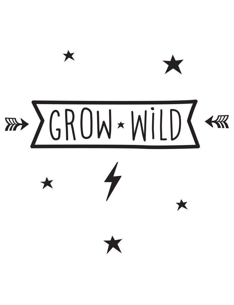 Muurstickers Grow Wild A Little Lovely Company Muurstickers - Muurdecoratie Stickers