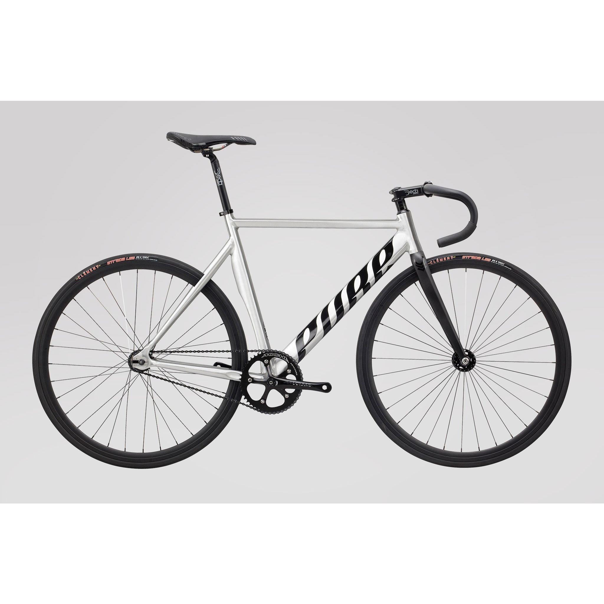 Pure Cycles Keirin Pro Elite Raw Aluminum Fixed Gear Track Bike