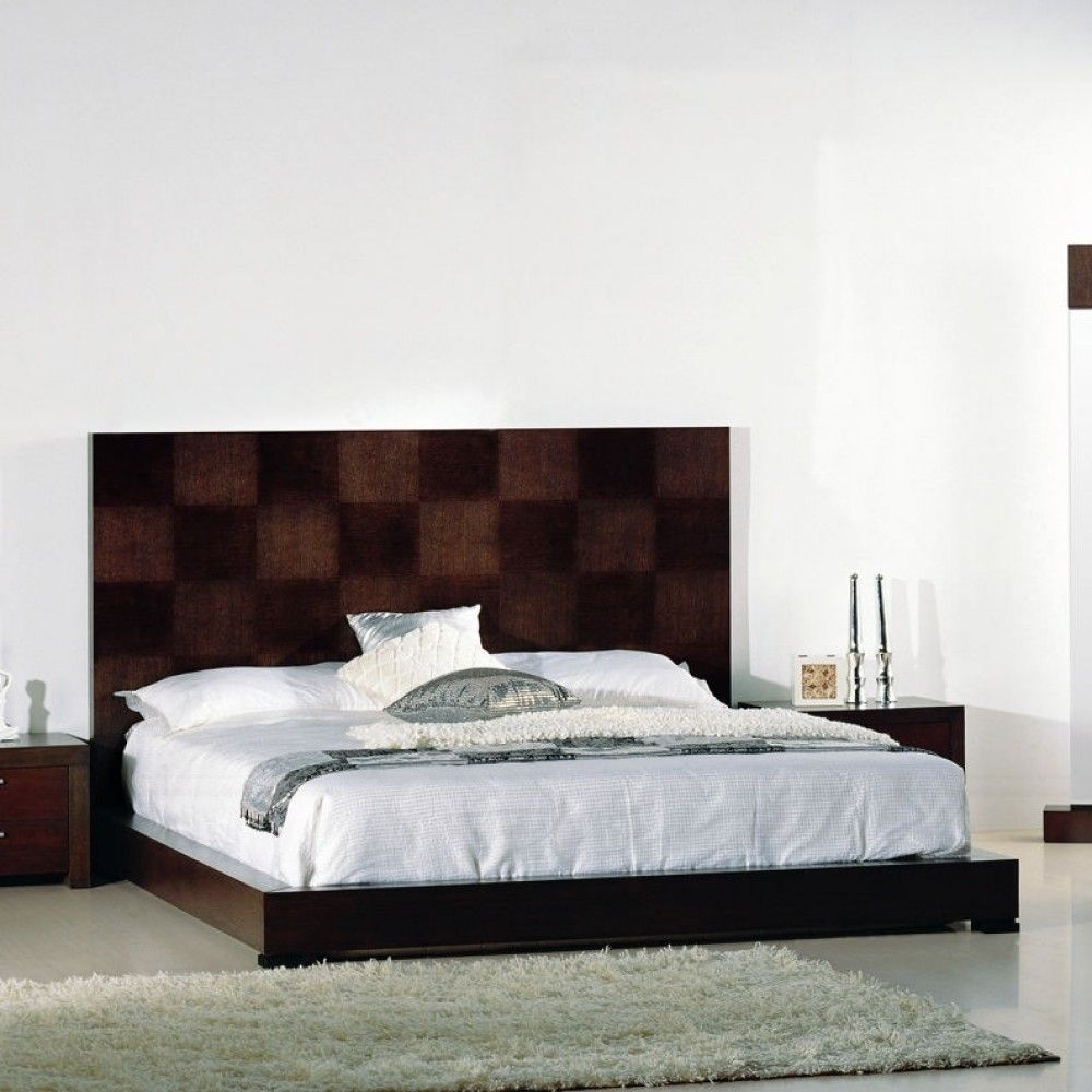 traxler platform bed in walnut by beverly hills beds by beverly