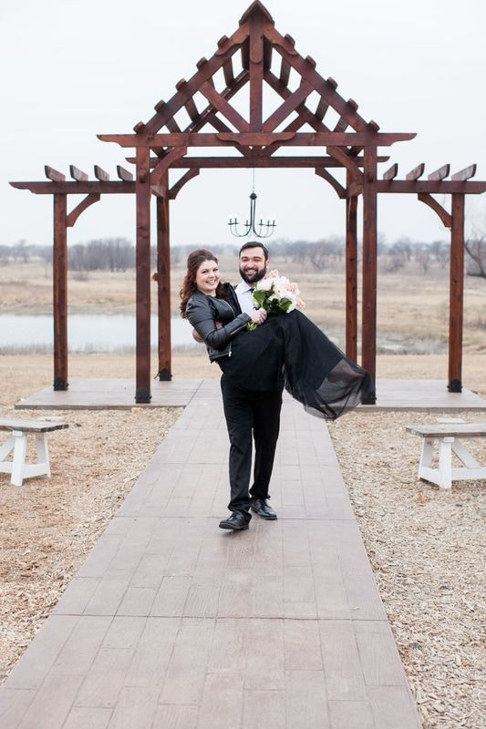 Wedding Venue Denton Texas Ranch Wedding Outdoor Ceremony
