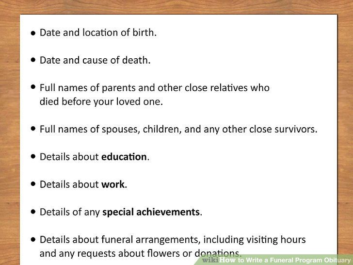 Write Your Own Obituary Template Template Pinterest Memorial