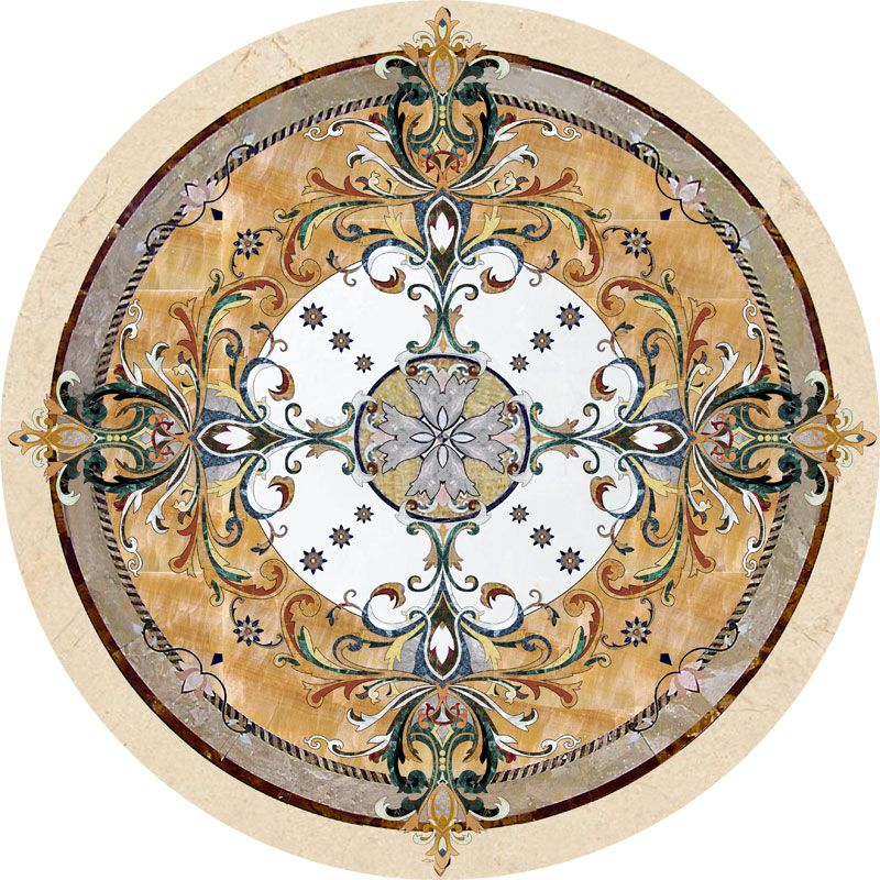Larger Image For Geneva In Stone Medallions   Part Of Czar Floors  Collection Of Unique Decorative