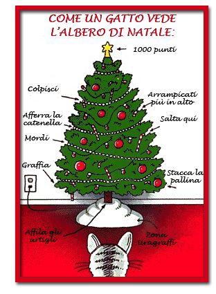 Come I Gatti Vedono Lalbero Di Natale Vignette Christmas Cat