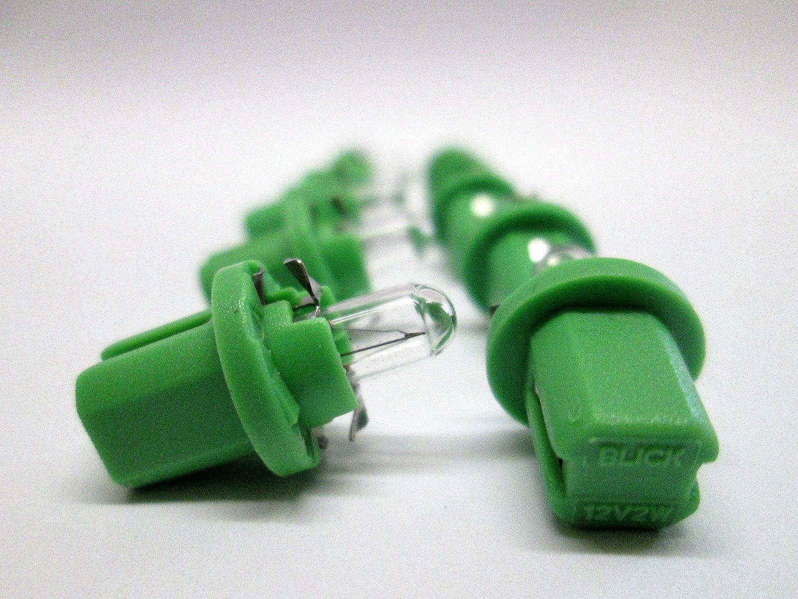 12V 2W BX8.5D (Green base) Indicator & panel bulb - Ring - R509TGR *Pack of 10*