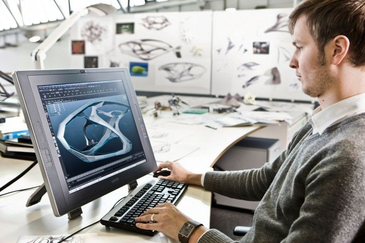 Interior Designer Working: Mercedes-Benz Interior Designer Working On The Cintiq