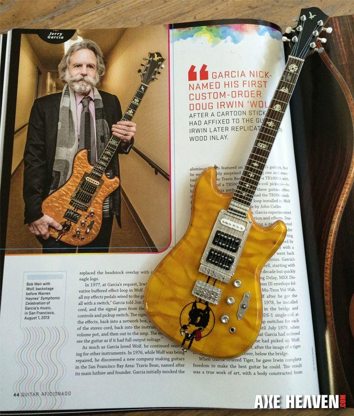 Jerry Garcias Lightning Bolt Mini Guitar And Alligator Miniature