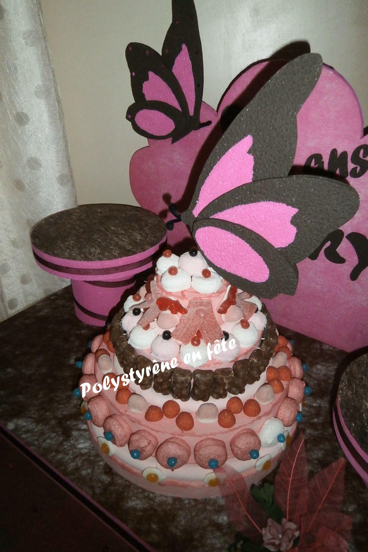 Gateaux De Bonbons Theme Papillon Presentoirs Ou